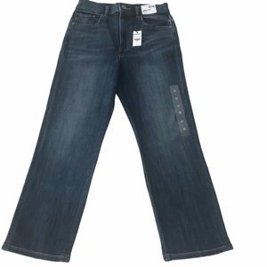 NWT Express High Rise Cropped Straight Dark Jeans